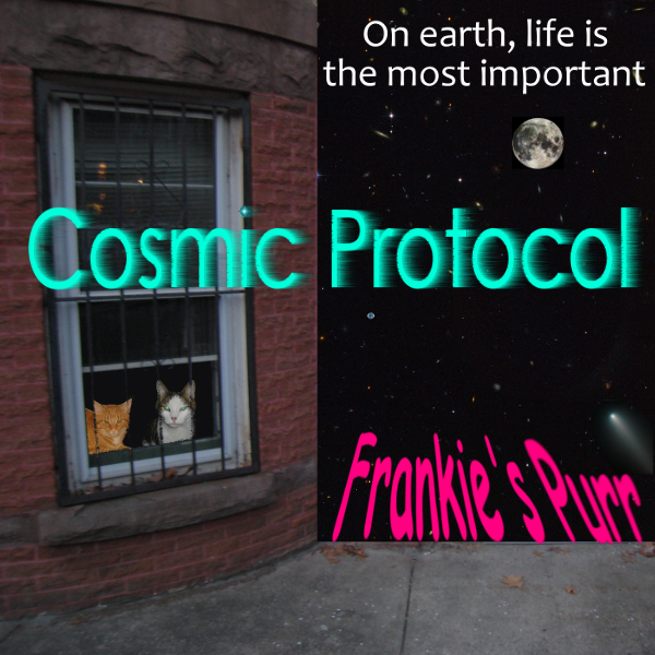 Cosmic Protocol band, 'Frankie's Purr', since life is the most important thing on Earth